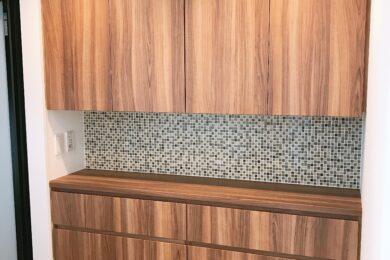 越谷市 個人邸 洗面台・リネン収納