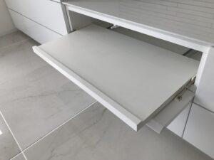 テレビボード ホワイト 鏡面 シンプル