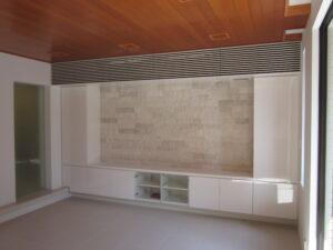 渋谷区 テレビボード 鏡面 シンプル ルーバー