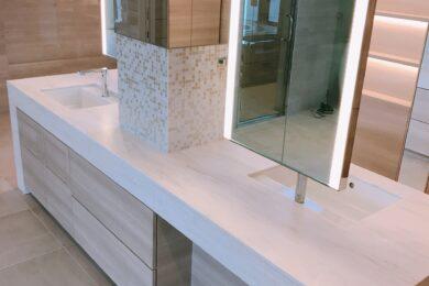 板橋区 個人邸 洗面台・ミラー